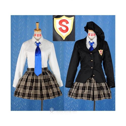 Panty & Stocking with Garterbelt Anarchy Stocking Academy School Uniform Cosplay Costume 2