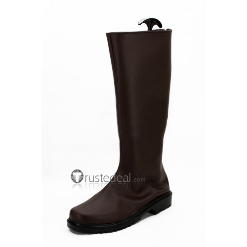 One Punch Man Genos Brown Cosplay Boots Shoes
