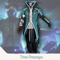 League of Legends LOL 2019 New Skin True Damage Akali Qiyana Yasuo Cosplay Costumes 2