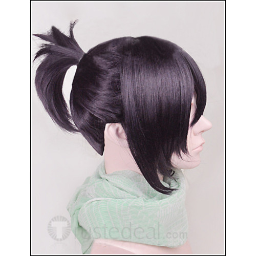 Noragami Yato Kimono Purple Ponytail Cosplay Wig