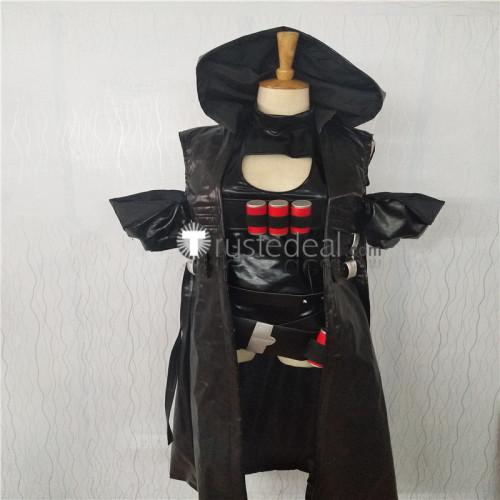 Overwatch Reaper Genderbend Female Black Cosplay Costume
