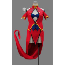 BLAZBLUE Litchi Faye Ling Red Cosplay Costume