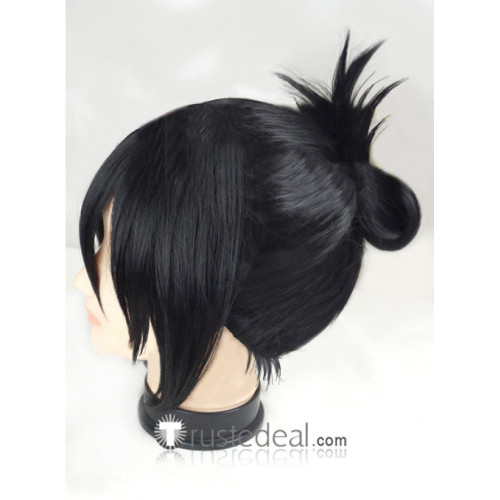 One Punch Man Speed of Sound Sonic Black Cosplay Wig