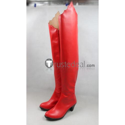 Shugo Chara Utau Hoshina Lunatic Charm Devil Red Cosplay Boots Shoes
