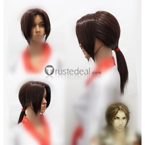Assassin's Creed Ezio Auditore Da Firenze Brown Pigtail Cosplay Wigs