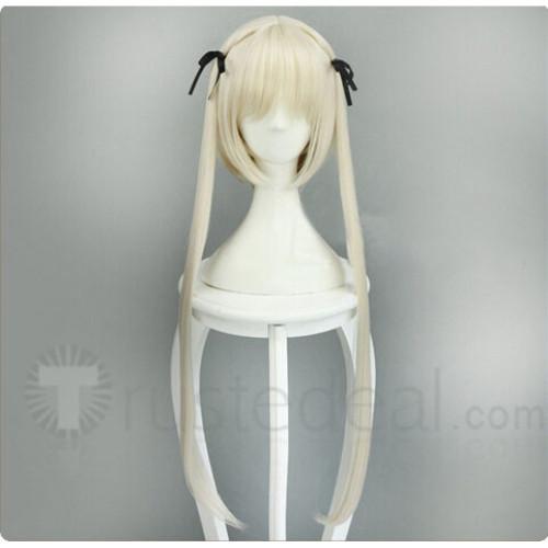 Yosuga no Sora Kasugano Sora Pale Blonde Ponytail Cosplay Wig