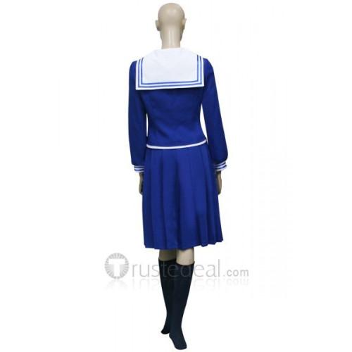 Fruits Basket Saki Hanajima Blue School Uniform Cosplay Costume Dress