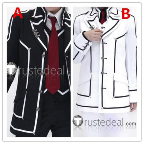 Vampire Knight Day Night Class Boy Kiryu Zero Kaname Kuran Daily Wear Version White BLack Cosplay Costumes