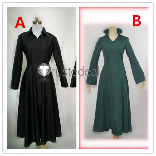 One Punch Man Fubuki Black Green Cosplay Costumes