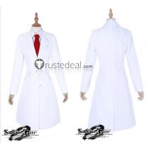 Steins Gate Makise Kurisu White Lab Coat Cosplay Costume