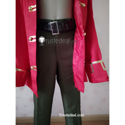 Monkey Island Lechuck Pirate Red Cosplay Costume