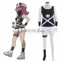 Pokemon Sun and Moon Team Skull Grunt Female Cosplay Costume