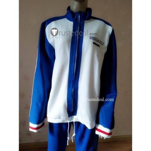 The Prince of Tennis TeniPuri Seigaku Seishun Academy Ryoma Kunimitsu Team Blue Uniform Cosplay Costume 2