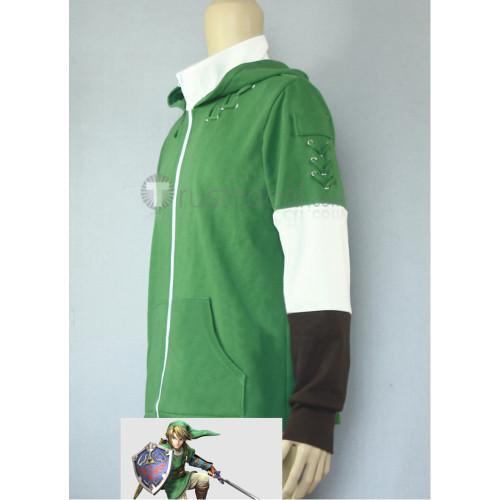 The Legend of Zelda Link Green Hoodie Cosplay Costume