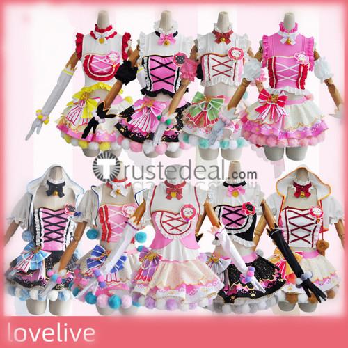 Love Live Double Ponytails Cat Neko Nozomi Umi Nico Eli Maki Kotori Hanayo Cosplay Costumes