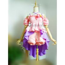 THE IDOLM@STER Cinderella Girls Anzu Futaba Candy Island Pink Purple Cosplay Costume
