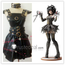 Edward Scissorhands Bishoujo Female Gothic Halloween Black Cosplay Costume