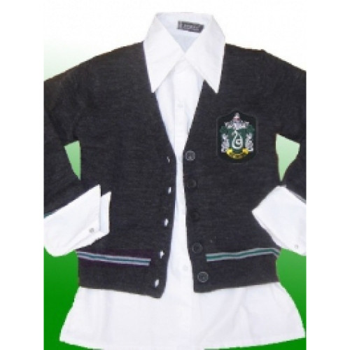 Harry Potter Slytherin Long Sleeves Cosplay Knitwear with Buttons
