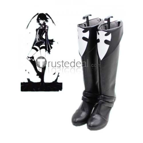 D.Gray-man Lenalee Lee Black White Cosplay Boots Shoes