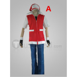 Pokemon Trainer Red Cosplay Costumes