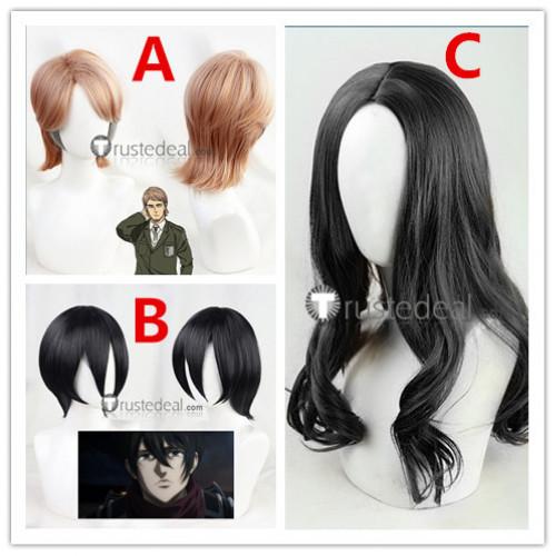 Attack on Titan Shingeki no Kyojin Final Season Mikasa Ackerman Jean Kirstein Pieck Finger Black Brown Cosplay Wigs