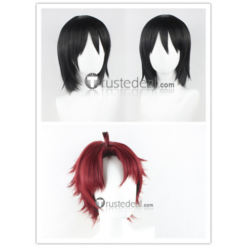 Bungou Stray Dogs Sakunosuke Oda Fyodor Dostoevsky Red Black Cosplay Wigs