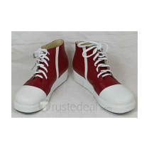 K Project Totsuka Tatara Red White Cosplay Shoes Boots