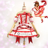 The Idolmaster Cinderella Girls Mayu Sakuma SSR Pink Dress Cosplay Costume