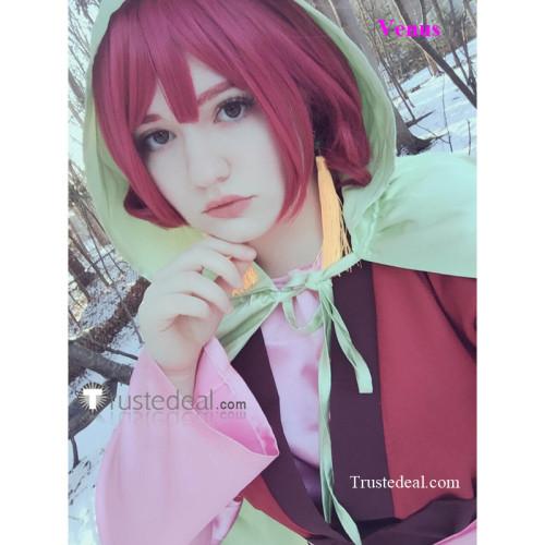 Akatsuki no Yona Princess Yona Cape Pink Cosplay Costume