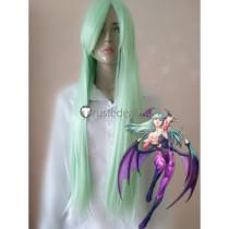 Darkstalkers Morrigan Aensland Greenish Cosplay Wig