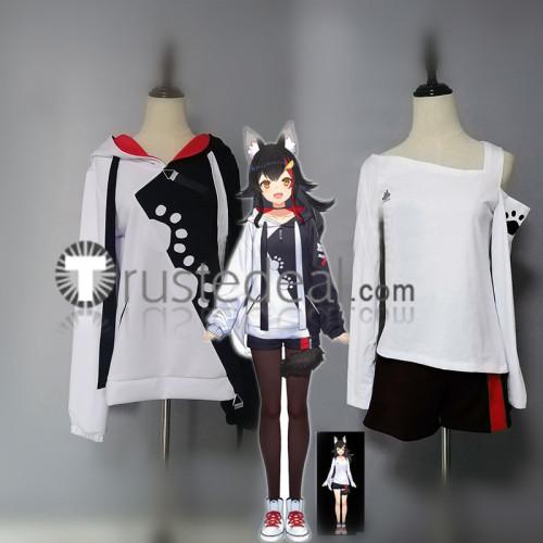 Vtuber Virtual YouTuber Ookami Mio Hoodie Cosplay Costume