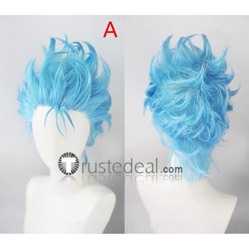Bleach Sexta (6th) Espada Grimmjow Jaegerjaquez Blue Cosplay Wigs