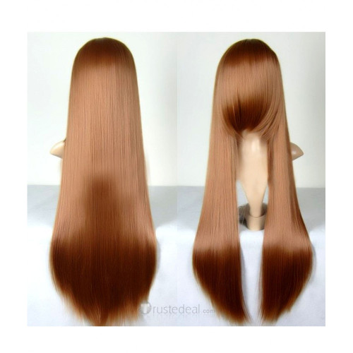 Another Reiko Mikami Long Brown Cosplay Wig