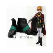 Mobile Suit Gundam Unicorn Audrey Burne Mineva Lao Zabi Black Cosplay Boots Shoes