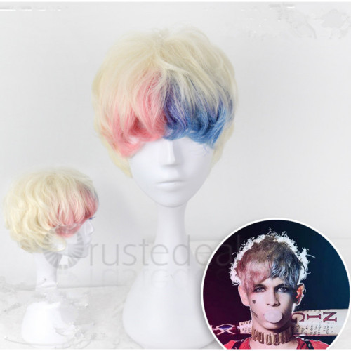 Suicide Squad Harley Quinn Genderbend Male Cosplay Wig and Boots