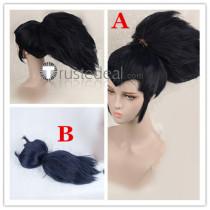 League of Legends LOL Yasuo Black Blue Cosplay Wigs