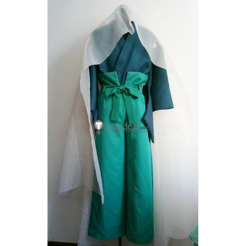 Shugo Chara Kairi Sanjou Samurai Soul Blue Green Cosplay Costume