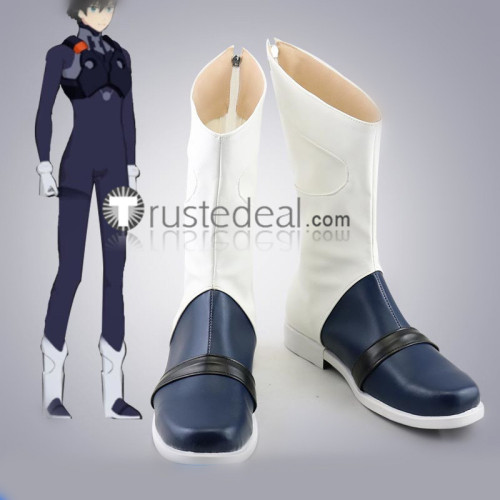 Darling in the Franxx Code 016 Hiro Blue Cosplay Boots Shoes