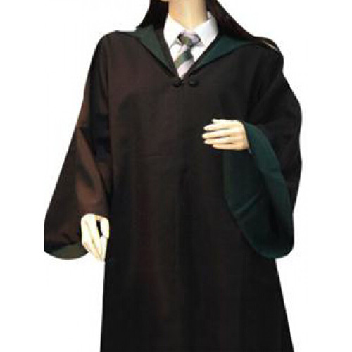 Harry Potter Slytherin Cosplay Overcoat and Necktie and Sweater and Shirt and Hat and Scarf Set