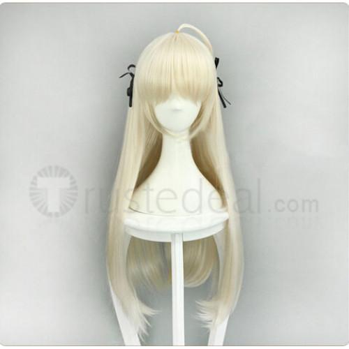 Yosuga no Sora Kasugano Sora Long Pale Blonde Cosplay Wig
