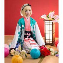 Blue Exorcist Moriyama Shiemi Kimono Cosplay Costume 2