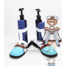 Hyperdimension Neptunia Lowee Blanc Blue Cosplay Shoes