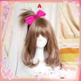 Pokemon Trainer May Haruka Brown Cosplay Wigs