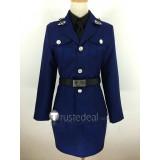 Hetalia Axis Powers Prussia Gilbert Beilschmidt Genderbend Female Blue Cosplay Costume