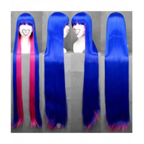 Panty & Stocking with Garterbelt Stocking Blue Pink Wig(120cm)