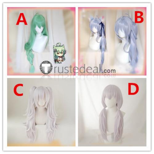 Azur Lane Akashi Laffey Asashio Green Purple Cosplay Wigs