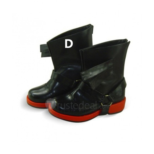 Fullmetal Alchemist Edward Elric Black Brown Cosplay Boots Shoes