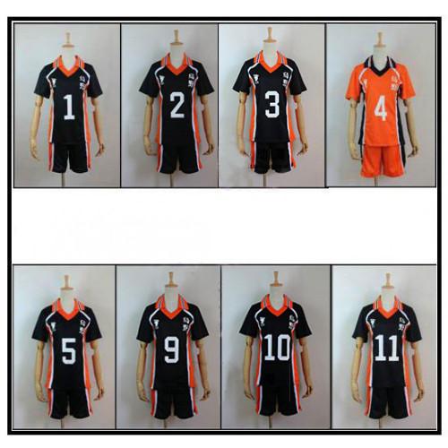 Haikyuu Karasuno High School Volleyball Club Shoyo Hinata Tobio Kageyama Cosplay Uniforms