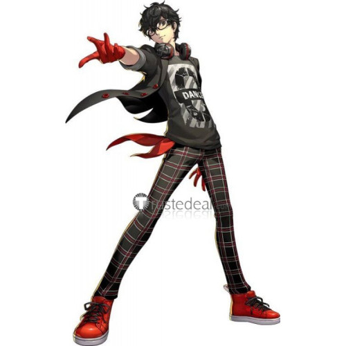 Persona 5 Dancing in Starlight Protagonist Ren Amamiya Phantom Black Cosplay Costume