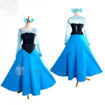 The Little Mermaid Disney Princess Ariel Blue Dress Cosplay Costume